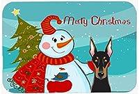 "Caroline's Treasures Snowman with Doberman Mouse/Hot Pad or Trivet, 7.75"" x 9.25"" Multicolor (BB1865MP) [並行輸入品]"