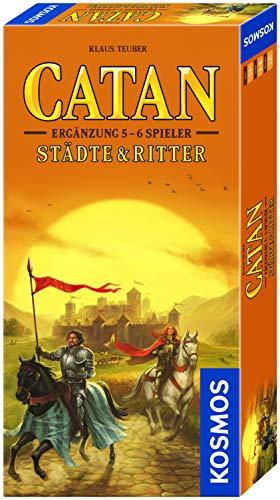KOSMOS 695514 - CATAN - Städte & Ritter, Ergänzung für 5 - 6 Spieler, Strategiespiel