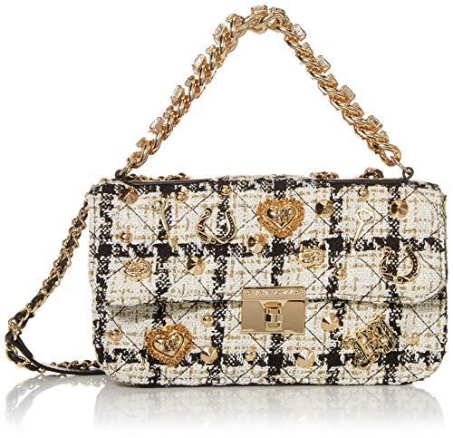Betsey Johnson Bouclé-Tasche mit Schublade, Weiß