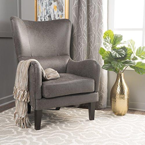 Christopher Knight Home Lorenzo Arm Chair, Slate