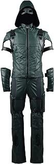 Halloween Cosplay Superhero Costume Oliver Queen PU Jacket Full Set for Men