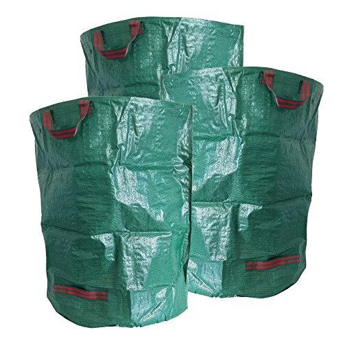 ToCi Lot de 3 sacs de jardin 300 l, autoportants, pliables, robustes – Sacs de jardin pour déchets verts