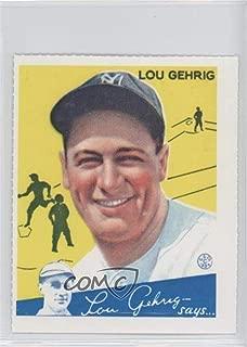 Lou Gehrig (Baseball Card) 1977 Dover Classic Baseball Cards Reprints - [Base] #LOGE.2