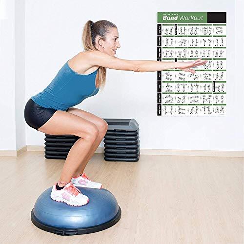 SDFSD Wangart Leinwand Poster Bild Widerstand Band Tube Übungsposter Laminiertes Ganzkörpertraining Personal Trainer Fitness Chart 70 * 105cm