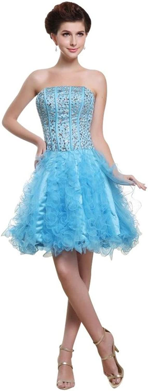 Dearta Women's ALine Strapless Sleeveless Short Mini Homecoming Dresses