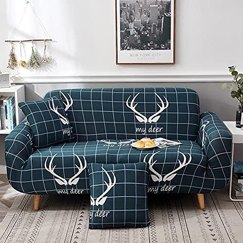 ASCV High Stretch Grey Sofabezug, Ultra-Thin Universal Corner Sofabezug, Split Sofabezug, Living Room Sofabezug A24 2-Sitzer