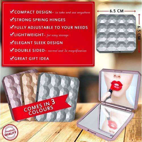 High-Q Compact Pocket Spiegel - Opvouwbare Handtas Make-up Cosmetische Vergroot Reizen Opvouwbaar
