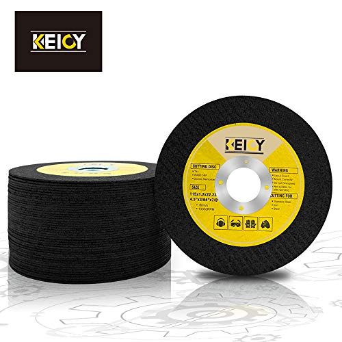 grinder cutting, Cutting Disc grinder angle cutting wheel 50pc 4.5 inch cut off wheel Fiberglass Reinforced Fine Aluminum Oxide Grits General Purpose for Angle Grinders Metal Stainless Steel【Keioy 】
