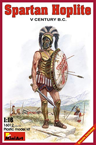 ミニアート 1/16 スパルタ戦士 紀元前5世紀 プラモデル
