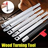 FINCOS Wood Turning Tool Chisel Changeable Tungsten Carbide Tip Lathe Tool Insert Cutter