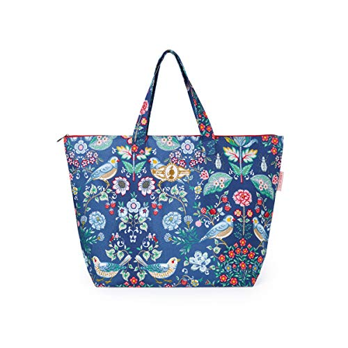 PiP Studio Strandtasche Oh My Darling Blau Blumen Vögel Strand Urlaub Beach Bag