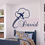zqyjhkou Hot Cyber Girl Wall Decals Angel Wall Sticker For Teen Bedroom Wallpaper Home Design Mural Decoration Room54x42cm