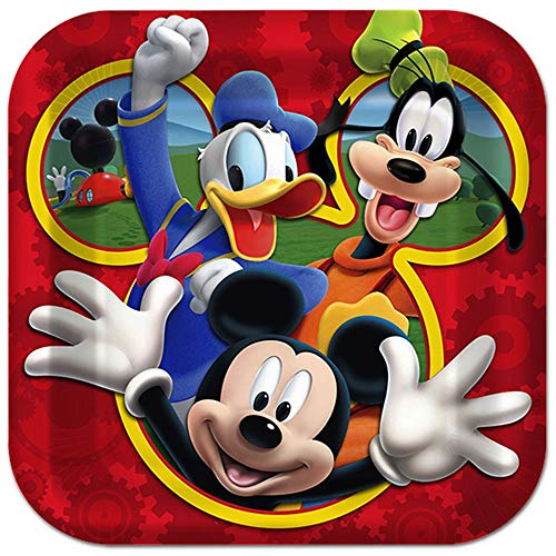 """Disney Mickey Mouse Clubhouse Playtime 10"""" Square Dinner Plate (8ct)"""