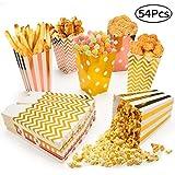MOSRACY 54 Stück Popcorn Box Weihnachtsgeschenkbox,Popcorn Tasche Candy Box Küche Dekoration...