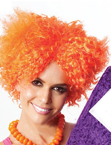 ahom (perruque Noble Ultra Économique Hot Vendre Explosion Orange bouclés Perruques synthétiques