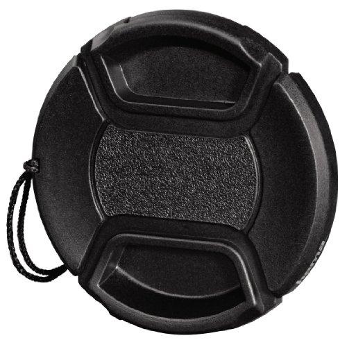 Hama Objektivdeckel für 62 mm Objektiv, Sicherungskordel, Smart Snap, Schwarz