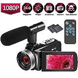 Videocamera HD 1080P 25FPS Videocamera Digitale per Vlogging Videocamere Autoscatto 24.0MP con...