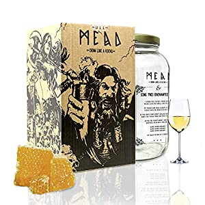 #My Brewery DRINK YOUR OWN BEER | Kit para fabricar Hidromiel | 3,8 litros | Receta cantueso | 9,5% ALC. | Miel andaluza