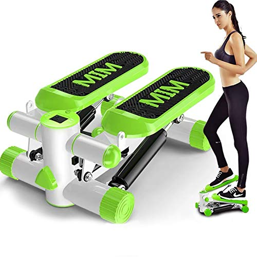 ZXZXZX Mini 2 in 1 Up-Down-Stepper con Display LED e Power Ropes Esercizio Stepper Attrezzi Fitness Aerobica Step Trainer Equipment Dispositivo Professionale per Casa Stepper Laterale