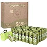 Viesap Bolsas Caca Perro, 585 Pcs Bolsas Excrementos Perros, Bolsas Para Excrementos De Perro Con Dispensador, Bolsas Perro Biodegradables Poop Bag Para Mascotas Domésticos, Bolsas Caca Gato, Verde.