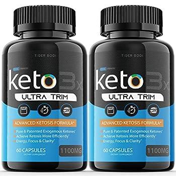 2 Pack  Keto Trim Pill Weight Loss Diet Pills 1100 mg Advanced Loss Extra Strength Formula Fast Pills  120 Capsules