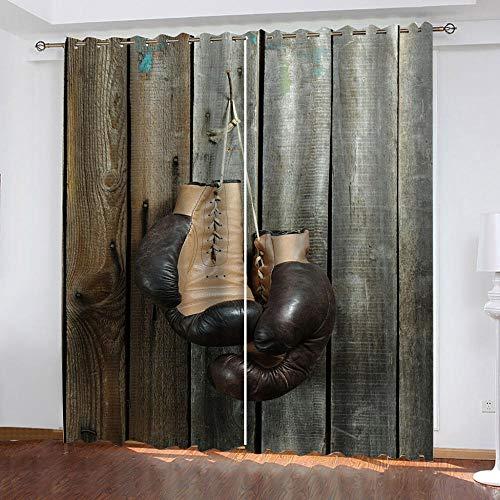 onedayday Verdunkelungsvorhang Curtain 3D-Boxhandschuhe Hauptdekoration Wohnzimmer Schlafzimmer Kinderzimmer Fenster - 2xB168CMxH229CM