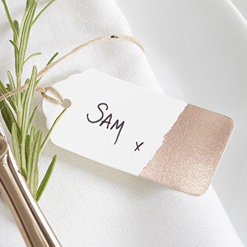 Ginger Ray Rose Gold Dipped Luggage Tag/Gift Tags - Beautiful Botanics