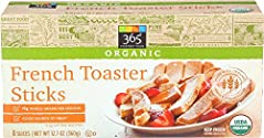 365 Everyday Value, Organic French Toaster Sticks, 8 ct, (Frozen)
