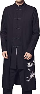 XINHEO Mens Large Size False Two Pieces Embroidered Coat Jacket