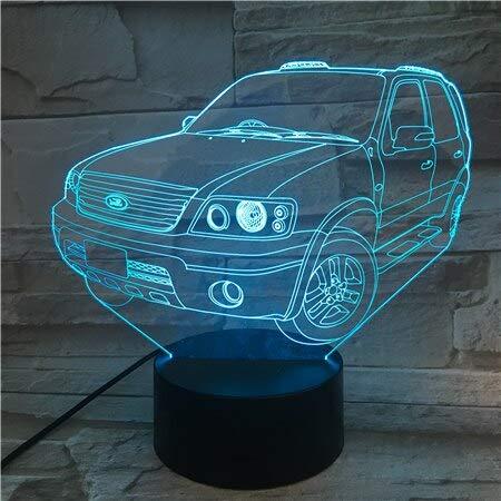Auto Form 3D Tischlampe Kinder Spielzeug Geschenk LED Nachtlicht Freund Baby Geschenk USB oder ed Bürodekoration 7/16 Farben 3D Tischlampe Kinder Spielzeug Geschenk-592