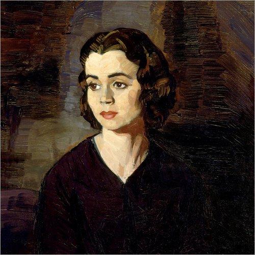 Lienzo 30 x 30 cm: Portrait of a Woman de Ignacio Zuloaga Zabaleta/akg-Images - Cuadro Terminado, Cuadro sobre Bastidor, lámina terminada sobre Lienzo auténtico, impresión en Lienzo