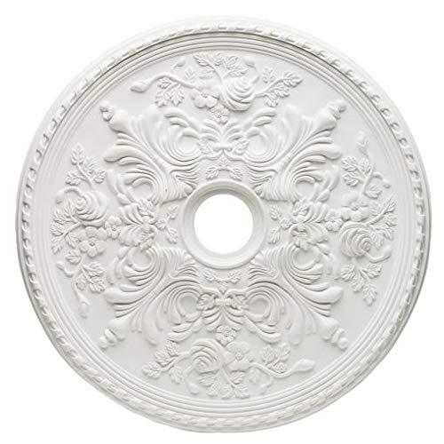 77754 Rosetón para techo con acabado blanco 71,1 cm