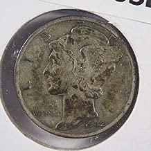 1942 S Mercury Dime Silver Dimes Ungraded