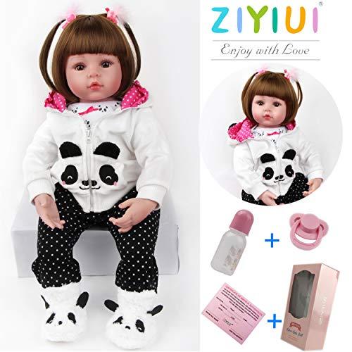 ZIYIUI Lebensecht Reborn Babypuppen Mädchen 18 Zoll 48cm Weiches Silikon Vinyl Ganzkörper Realistisch Billiges Magnetisches Spielzeug Reborn Doll
