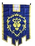 LinkStart Bandera de la Alianza de la Horda Bandera de Orco Emblema Póster (Azul)