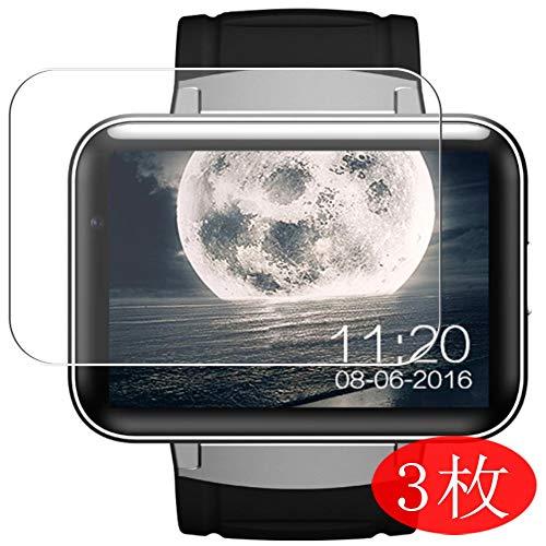 Vaxson 3 Stück Schutzfolie kompatibel mit Smartwatch smart Watch DM98, Displayschutzfolie Bildschirmschutz Blasenfreies TPU Folie [Nicht Panzerglas]