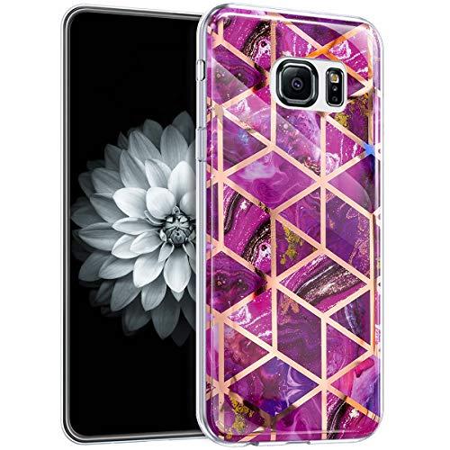 Carcasa para Galaxy S6 Edge, diseño de mármol, Violet Marbre