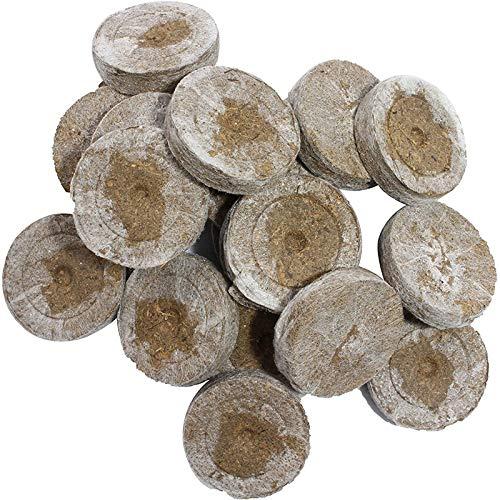 Kokos Quelltabletten Mit Nährstoffen, Quell-Tabletten, Zur Pflanzen Anzucht, Anzucht Von Stecklingen, Sämlingen Und Saaten, Premium Quelltabs (20 Stück)