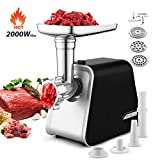 Meat Grinder, 5-IN-1 Durable Electric Meat Grinder with 3 Grinding...