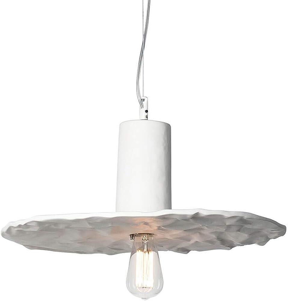 Karman scrivimi, lampada a sospensione, con paralume Ø47 cm,in ceramica bianca opaca SE1111B INT