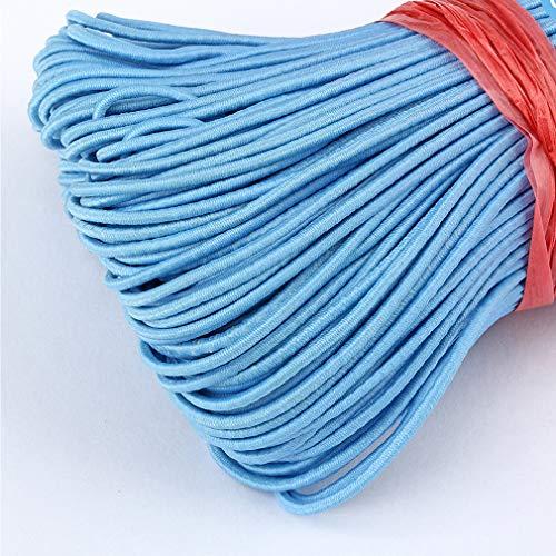 Hawiton elastisch koord elastiek band naaigelastiekband rekbaar voor parelweven sieraden sieraden maken armband DIY (2,8 mm, 10 m) 2.5mm-10M lichtblauw