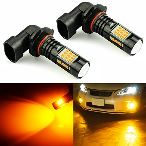 JDM ASTAR Bright Amber PX Chips H10 9145 9140 LED Fog Light Bulbs