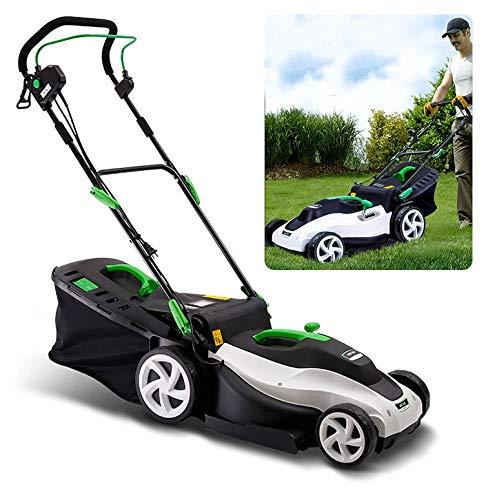 Opvouwbare geluidsarme elektrische grasmaaier met 50 liter grote grasopvangbak, 6 verstelbare maaihoogtes, eenvoudige bediening
