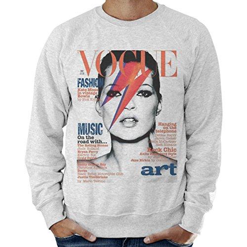 Vogue Kate Moss Sweat-shirt léger pour homme - Gris - Medium