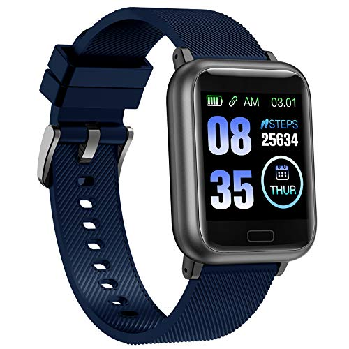 ASWEE Smart Watch, Fitness Trackers Heart Rate and Sleep Monitor, Step Counter, Multiple Sports Modes Tracking, IP67 Waterproof Pedometer Watch for IOS and Android Phones for Men, Women and Kids