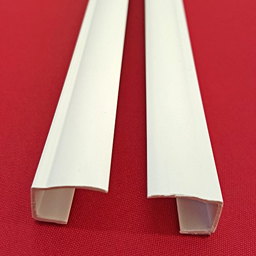 Easy-Shadow - 4 Stück Seitenschienen Länge 210 cm selbstklebend für Klemmfix-Rollos Verdunkelungsrollo - Führungsschiene aus PVC individuell kürzbar Montage ohne Bohren am Fensterflügel Verdunkelung - weiß