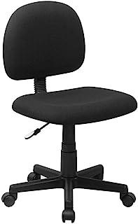 Flash Furniture Mid-Back Black Fabric Swivel Task Office Chair