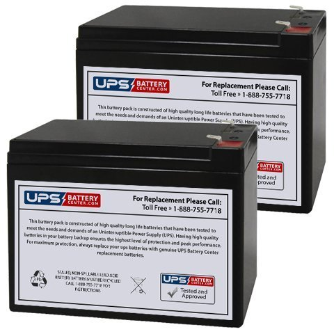 12V 10AH Currie eZip Trailz Electric Bike Replacement Battery - 2 Pack