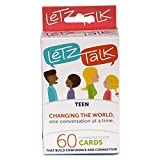 Letz Talk Conversation Cards for Teens - Helpful Learning Conversation Card Game for Young Adults - Confidence Building...
