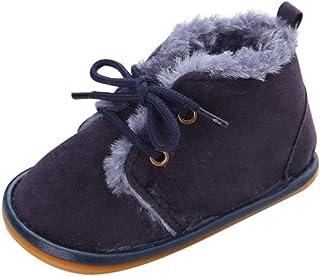 Chaussures en Peluche Bébé Hiver Bottes de Neige Filles Garçons Chaussons Semelle Souple Léopard Pantoufles Premiers Pas C...